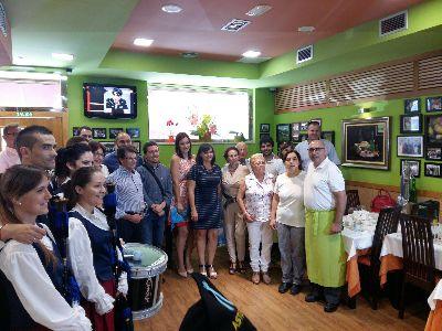 El Alcalde recibe la distinción de ''Pueblo Ejemplar'' para la ciudad de Lorca por parte de Casa Menéndez