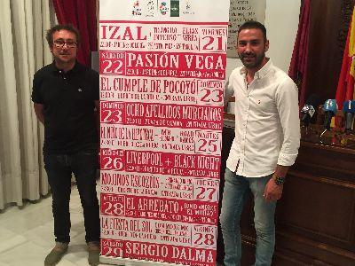 IZAL, Pasión Vega, Mojinos Escozíos, El Arrebato y Sergio Dalma protagonizan la agenda musical de la Feria de Lorca 2018 que se celebrará entre el 21 y el 30 de septiembre