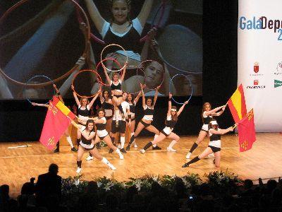 El ballet de Maria Teresa Lazareno amenizo con su actuación la Gala del Deporte 2.010
