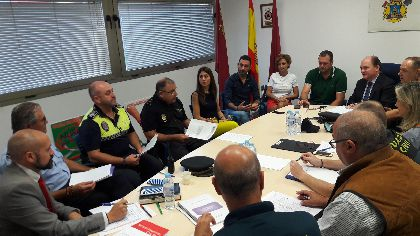 Ayuntamiento y Gobierno Regional coordinan sus efectivos para optimizar los recursos del Plan Especial de Emergencias diseñado para la Feria y Fiestas de Lorca