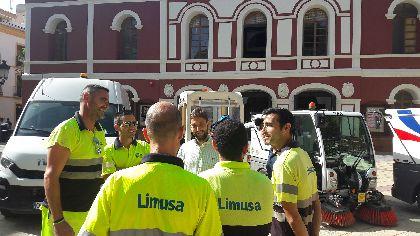 Limusa incrementa un 30% los efectivos para la limpieza de los diferentes eventos de la Feria y Fiestas y dobla la dotación de contenedores para potenciar la recogida de residuos