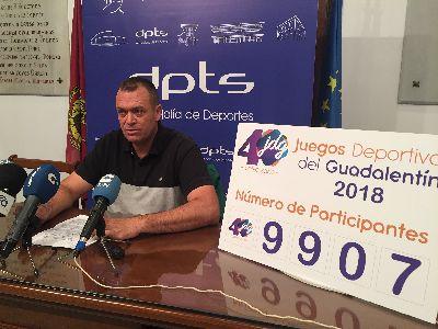 9.907 personas han disfrutado de la 40ª edición de los Juegos Deportivos del Guadalentín que ha ofrecido más de 60 actividades durante las últimas 6 semanas