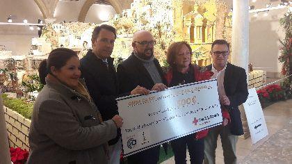 Onda Ca107 y La Placeta entrega a Cruz Roja Lorca la recaudación de la paella gigante solidaria que realizaron estos medios de comunicación con motivo del Patrón de la ciudad