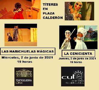 El Ayuntamiento de Lorca organiza dos funciones de títeres para este próximo miércoles y jueves en Plaza Calderón