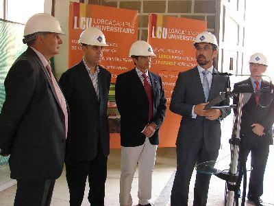 Salvador Marín y Francisco Jódar anuncian que las obras del Campus de Lorca para impartir grados de Ciencias de la Salud estarán concluidas en el verano de 2010