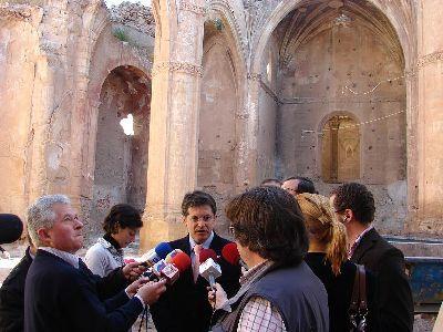 El Ayuntamiento de Lorca inicia las obras de consolidación y adecuación de la iglesia de Santa María para que pueda ser visitada