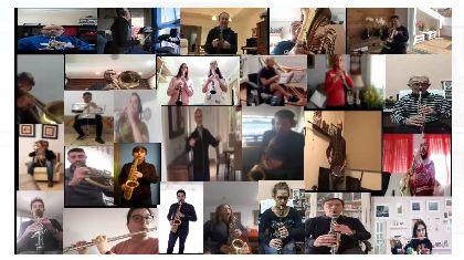 La Banda Municipal de Música ameniza esta Semana Santa atípica grabando un vídeo coral de los himnos azul y blanco