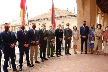 El Ayuntamiento recibe al general lorquino Melchor Marín, nuevo jefe de la Brigada 'Rey Alfonso XIII' II de la Legión