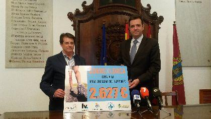 La carrera ''Corre x Lorca'' recauda 2.627 � para la Mesa Solidaria a favor de los afectados por las cat�strofes