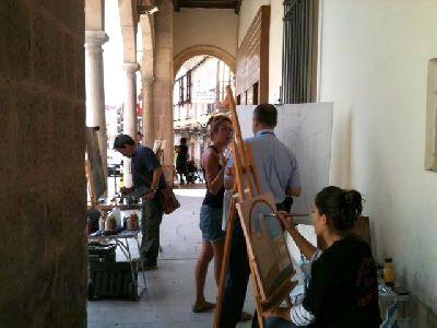 El II Concurso Nacional de Pintura al aire libre 'Casco Histórico de Lorca' reúne a 69 pintores, 18 más que en su primera edición