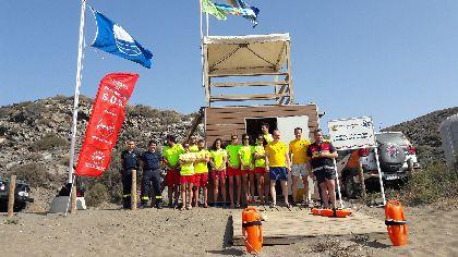 El Alcalde de Lorca, Fulgencio Gil, anima a conocer el litoral lorquino y destaca la eficacia del dispositivo establecido en la costa durante todo el verano