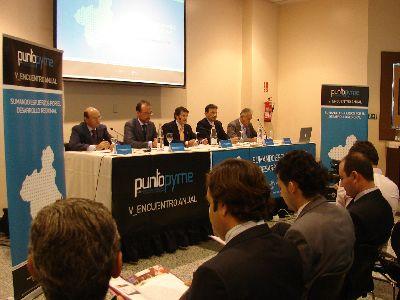 Marín y Jódar inauguran en Lorca el V Encuentro Anual Red PuntoPyme, que se reforzará para llegar a más empresas