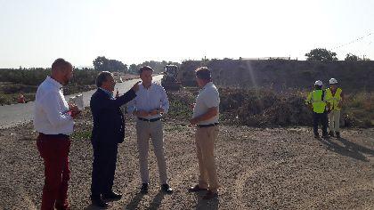 La Comunidad inicia la construcción del nuevo puente de la rambla de Biznaga de Lorca, que evitará posibles inundaciones
