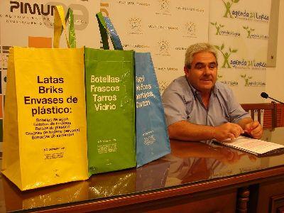 Melchor Morales anuncia que los lorquinos pueden solicitar a través de la web de Limusa una tribolsa