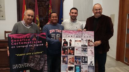 El I Festival de Cortometrajes en Lenguaje de Signos de Lorca proyectará 20 títulos mañana en el Teatro Guerra