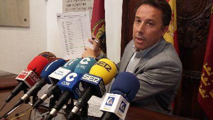 Las ordenanzas fiscales para el próximo año ahorrarán a los lorquinos más de 2,6 millones de euros gracias a las bajadas generalizadas del IBI y del recibo de agua