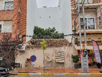 El Ayuntamiento de Lorca inicia, el lunes, la demolición de tres viviendas declaradas en ruina técnica