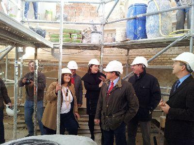 Las obras de reconstrucción de la iglesia de Santiago, la más dañada por los terremotos, están ejecutadas ya en un 60%