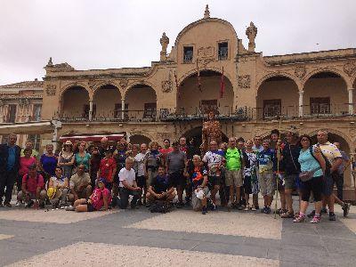 40 salmantinos y almerienses hacen de Lorca el inicio de su peregrinación a Caravaca por el Año Santo Jubilar