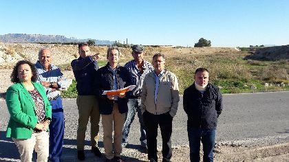 La Consejería de Fomento licita por 1,9 millones la construcción de un nuevo puente en la carretera de Aguaderas sobre la rambla de Biznaga
