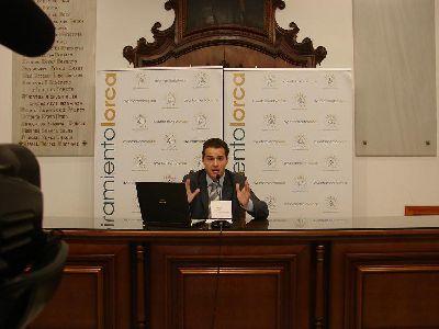 El Ayuntamiento de Lorca reducirá el gasto en un 27,8% en 2009 y saneará la deuda de tesorería con un superávit de 19,6 millones de euros