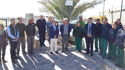 Una quincena de parados lorquinos del Programa Mixto de Empleo y Formación ''Las Alamedas'' se forman en el sector de la construcción rehabilitando la plaza de San Juan