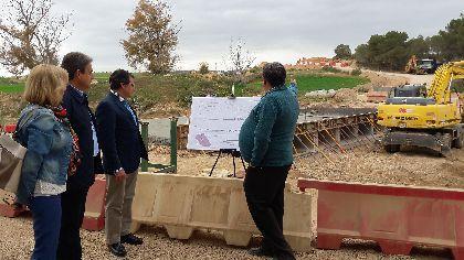 La ampliación de la carretera de Zúñiga permitirá mejorar la seguridad vial del principal acceso a esta población lorquina