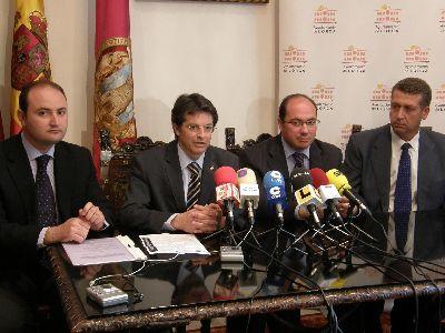 Los alcaldes de Lorca y Puerto Lumbreras firman un convenio para solicitar acciones del plan de I+D+I