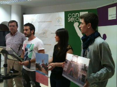 José Manuel Fajardo, Agustín González y Valentín Guillén, ganadores del concurso #estoesjuventud para promocionar la campaña #lorcalizate