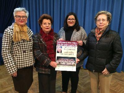 La Asociación de Amas de Casa, Consumidores y Usuarios de Lorca organiza el Encuentro de Poesía y Música de ''San Valentín'' para el martes con la Concejalía de Cultura