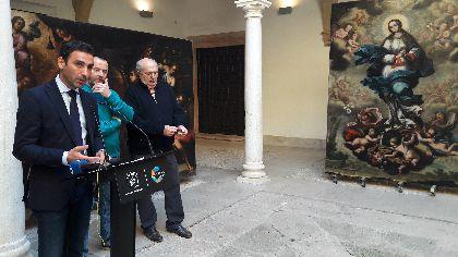 El Palacio de Guevara recupera 3 grandes joyas del pintor barroco Camacho Felizes que lucen totalmente restauradas gracias a una inversión de 68.534 euros