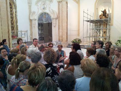La parroquia de Santiago recupera la imagen de su titular y Santo Patrón de España, una vez restaurada de los daños producidos por los terremotos de 2011