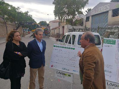 Comienzan las obras de renovación de la carretera de Caravaca con el objetivo de garantizar la seguridad de conductores y vecinos de una zona con una gran afluencia de vehículos