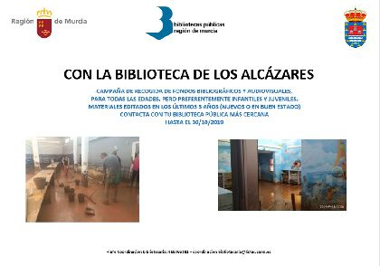 La Red municipal de bibliotecas de Lorca se suma a la campaña de recogida de libros a favor de las localidades de la Región afectadas por la DANA