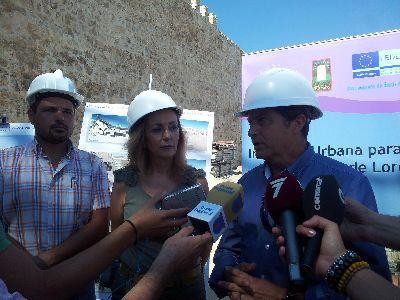 Lorca sigue recuperando su imagen medieval de ciudad inexpugnable con las obras de puesta en valor de 190 metros más de muralla, cuya rehabilitación estará finalizada en julio