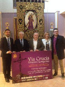 El Paso Morado y el Ayuntamiento de Lorca organizan para el Lunes Santo el I Viacrucis Viviente con 46 actores que representarán la Pasión por las estaciones hasta el Calvario