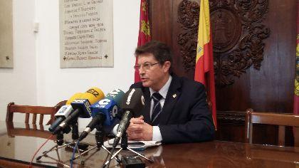 El Alcalde subraya en su felicitación navideña la ilusión por la Nueva Lorca y ratifica el compromiso municipal con quienes peor lo están pasando