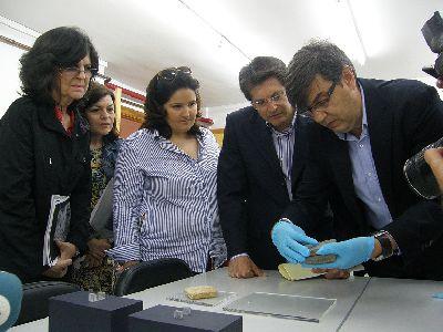El Ayuntamiento de Lorca presta una hucha romana y 31 monedas del Museo Arqueológico para una exposición temporal en el Museo Arqueológico de los Baños de Alhama