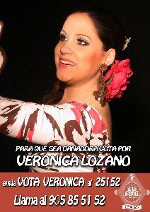 El Ayuntamiento instalará el próximo domingo en La Paca una televisión gigante para apoyar a la cantante Verónica Lozano en la final del programa ''A tu vera''