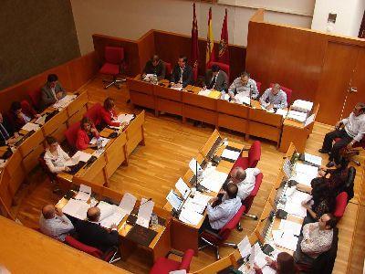 El Ayuntamiento de Lorca muestra su ?rotundo rechazo? al proyecto de reforma del Estatuto de Castilla La Mancha en lo referido al Tajo-Segura