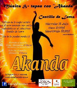 El flamenco del grupo lorquino Akanda protagoniza mañana el ''Música & Tapas'' en el castillo de Lorca