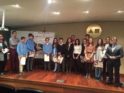 12 estudiantes lorquinos reciben los premios del 8º Certamen de Narración para Educación Secundaria Ángeles Pascual