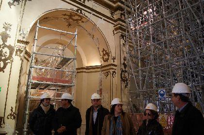 El Paso Blanco de Lorca restaura la nave central y el coro para que la Virgen de la Amargura salga de la Capilla del Rosario esta Semana Santa