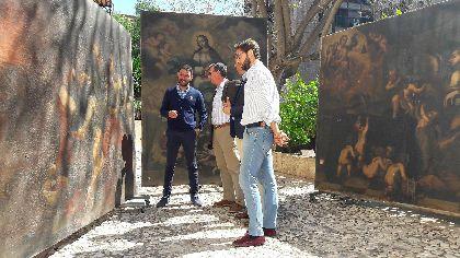 El Ayuntamiento inicia en los próximos días el proceso de restauración de tres obras del pintor lorquino Camacho Felizes ubicadas en el Palacio de Guevara