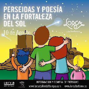 Actividades infantiles, cena especial, poesía y el concierto de Amarela forman parte de la programación del Castillo de Lorca para la Noche de Perseidas y Poesía de este jueves