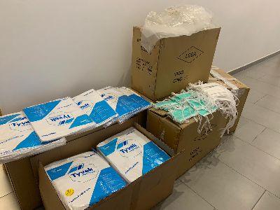 El Ayuntamiento de Lorca entrega 5.000 mascarillas al Área III de Salud y 061