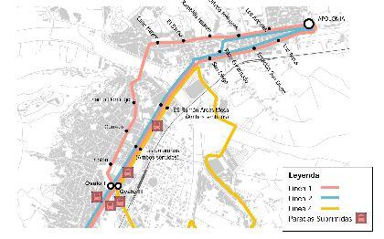 El próximo 18 de junio entrarán en funcionamiento las nuevas paradas de autobús ubicadas en el Óvalo y el nuevo recorrido de la línea Apolonia – Almenara y Óvalo – Santa Quiteria