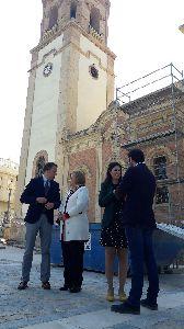 El Santuario Patronal se beneficia de una nueva inversión de la Consejería de Cultura para restaurar su fachada principal y habilitar una cámara para eliminar humedades