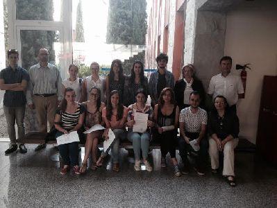 El Ayuntamiento de Lorca reconoce la colaboraci�n de 16 alumnos de la Universidad de Murcia en las jornadas ''Lorca Resiliente''