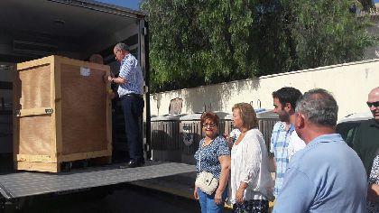 La imagen de la Virgen de las Huertas se traslada al Centro Regional de Restauración donde será objeto de un estudio en profundidad para su inminente restauración